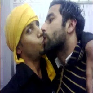 Kissing Indian gay