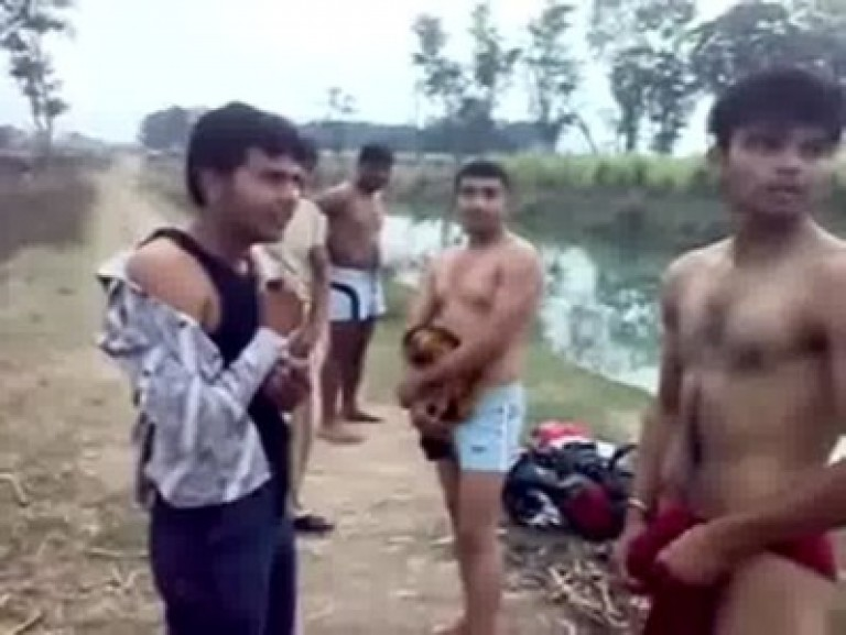 Indian gay guys strip and play from dicks