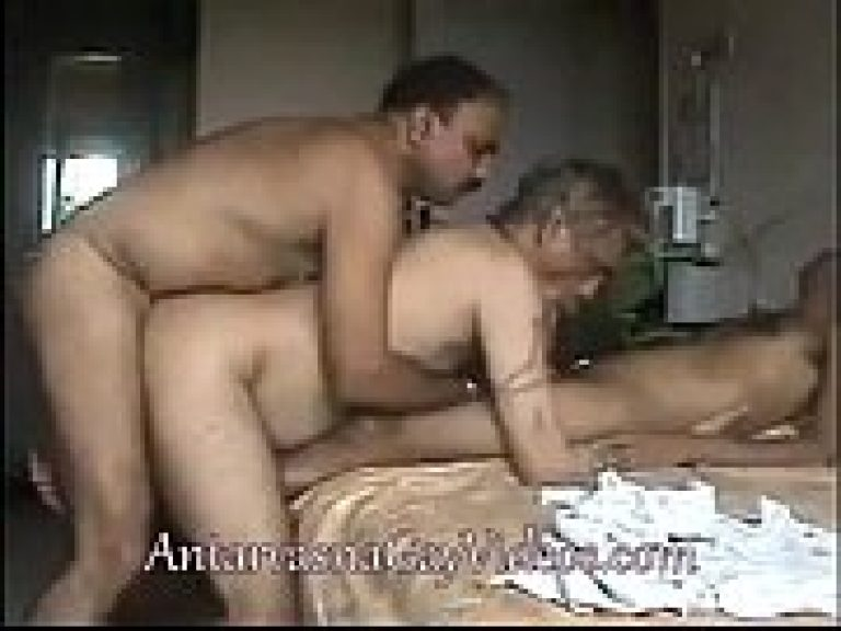 Gay family porn video of anal sex among son, daddy & grand papa
