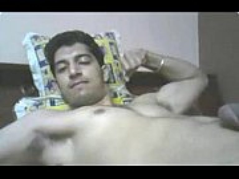 Punjabi gay boy jerk his big dick to cum and relax in free time