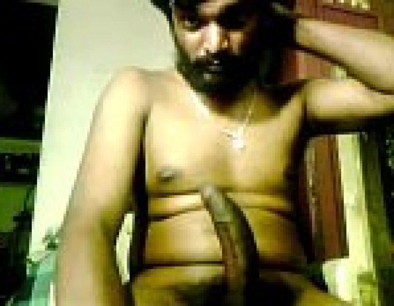 Naga desi gay man masturbating his big dick to cum