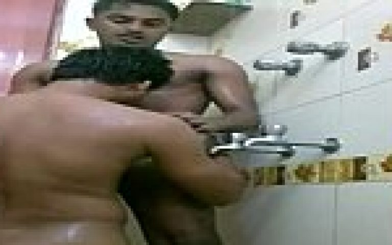 Punjabi gay boy and Delhi guy making sexual fun in bathroom