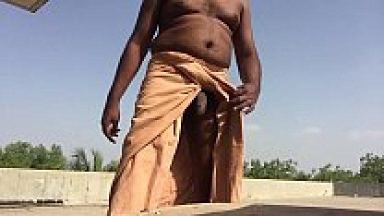 Bangali village desi gay man masturbation his dick in open area of field