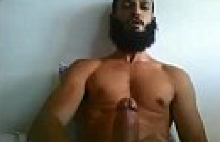 Hyderabadi Muslim Indian gay bf of masturbating big dick