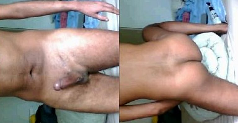 Teen Indian desi gay boy jerk & fuck bed blanket for gandu masti