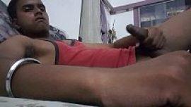 Punjabi desi gay boy masturbating his big dick at IMO chat