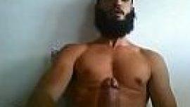 Hyderabadi Muslim Indian gay bf of masturbating big dick