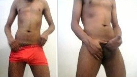 Desi Indian gay student strips
