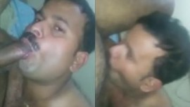 Indian gay porn MMS of gay Daddy suck dick of Mama