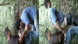 Outdoor Indian desi gay friends hardcore fuck in forest
