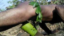 Tarzan Bangali Indian desi gay guy masturbation in jungle wood