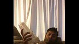 Indian gay porn MMS of desi boy masturbating his dick with flashlight